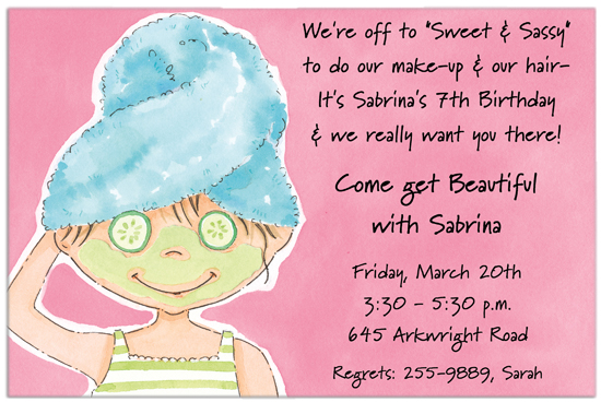 Pampered Pixie Invitation