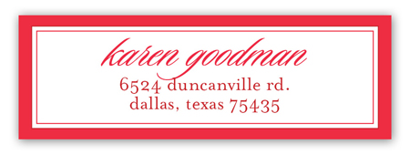 Parker Address Label