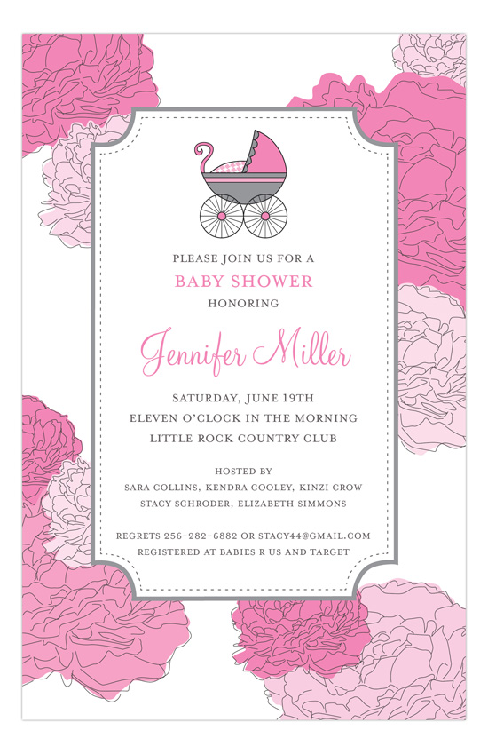 baby shower invitation for girls