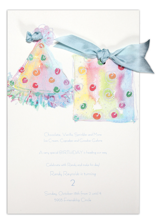 Party Blue Invitation