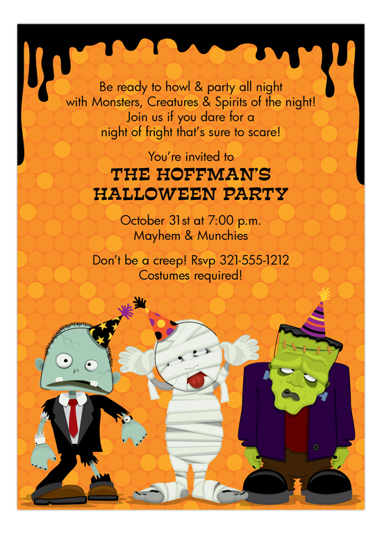 Party Creeps Invitation