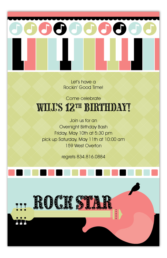 Party Like a Rockstar Invitation