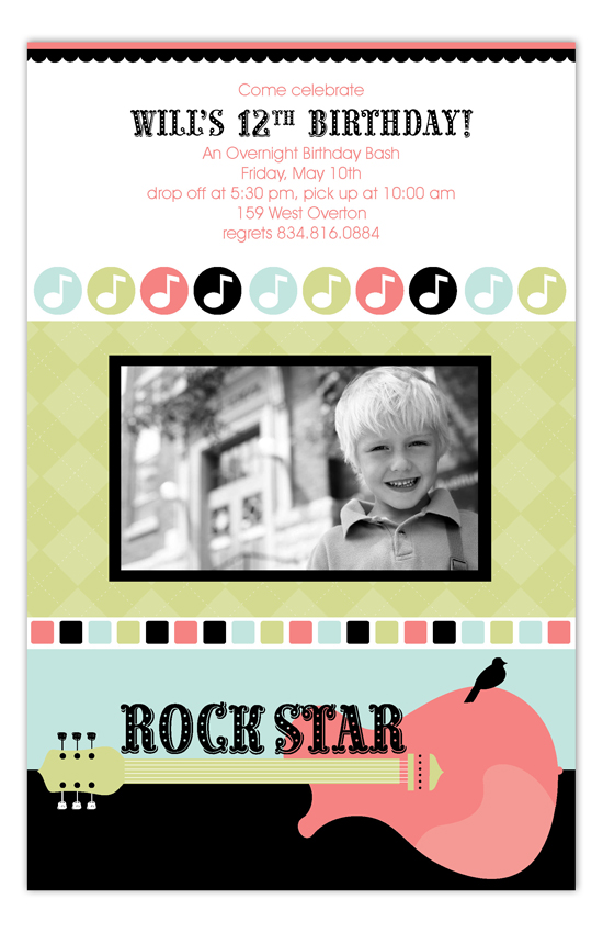 Party Like a Rockstar Photo Card