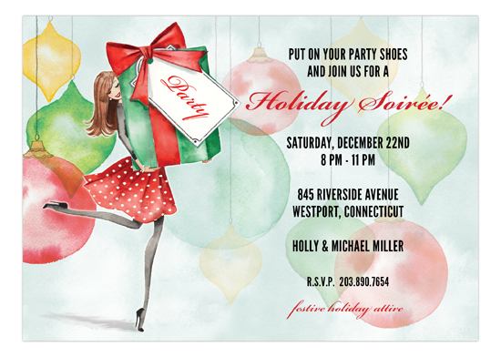 Party Ornaments Invitation