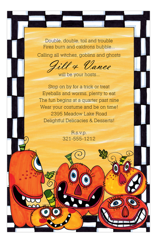 Party Pumpkins Invitation