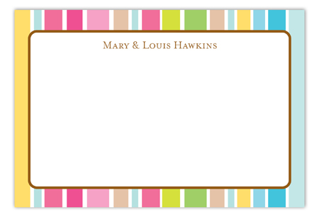 Party Stripe Flat Note Card