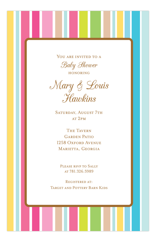 Party Stripe Invitation