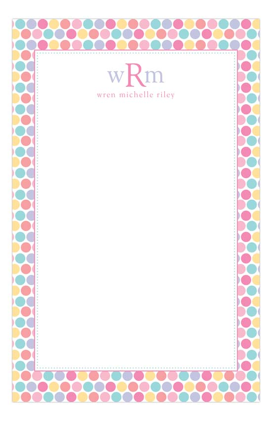 Pastel Dot Notepad