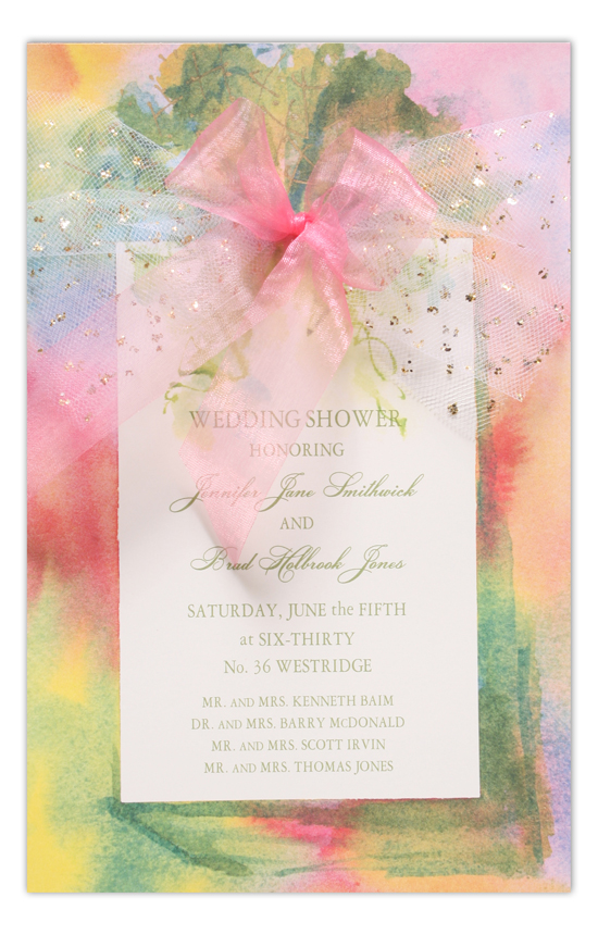 Pastel Package Invitation