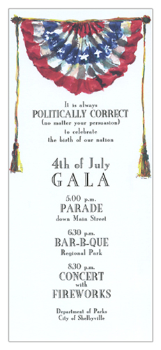 Patriotic Banner Invitation
