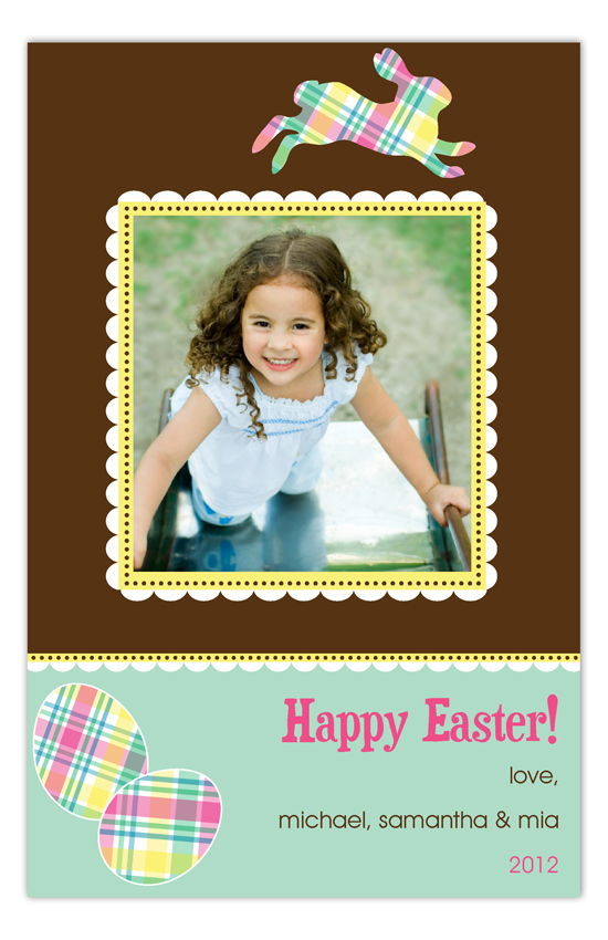Patterned Easter Photo Card