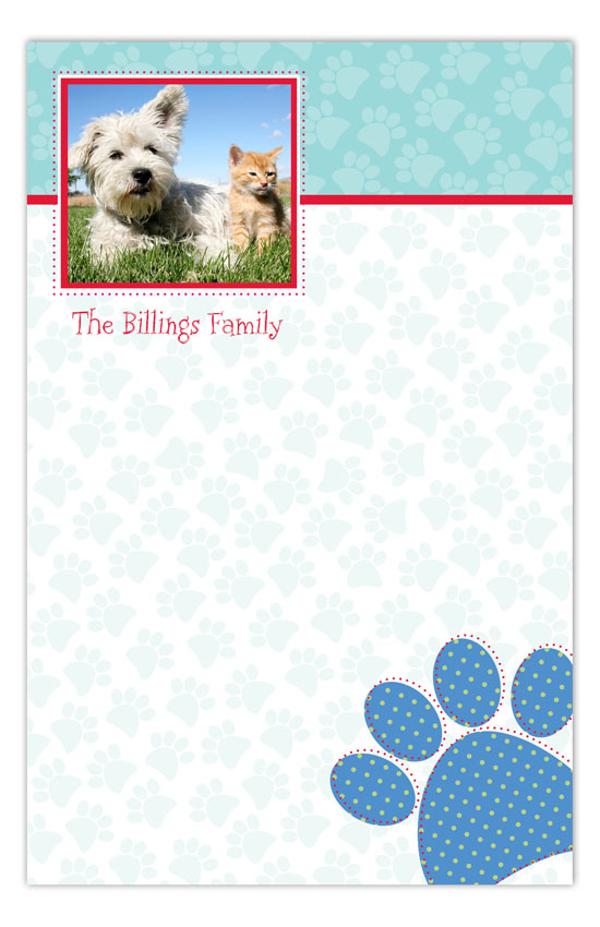 Paw Print Photo Notepad