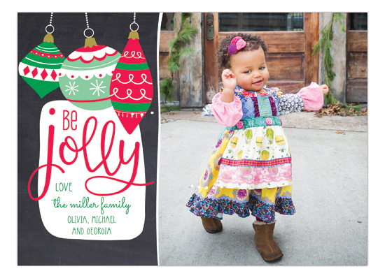 Be Jolly Ornaments Holiday Photo Card