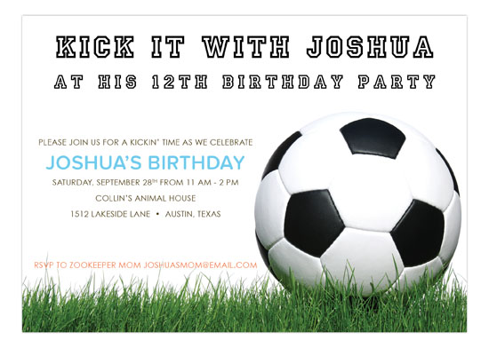 Soccer Ball on Grass Invitation