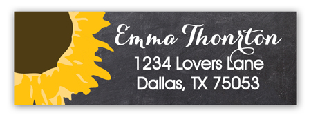 Boho Sunflower Address Label