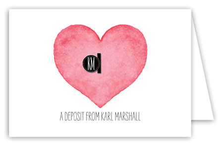 Heart Deposit Folded Note Card