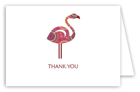 Tribal Flamingo Thank You Card