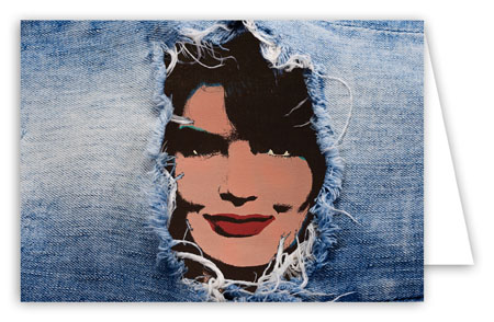 Jacqueline Kennedy In Jeans Note Card