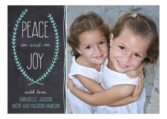 Peace and Joy Chalkboard Photo Card