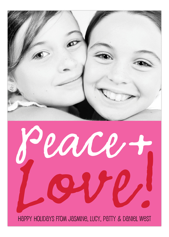 Peace and Love Photo Card