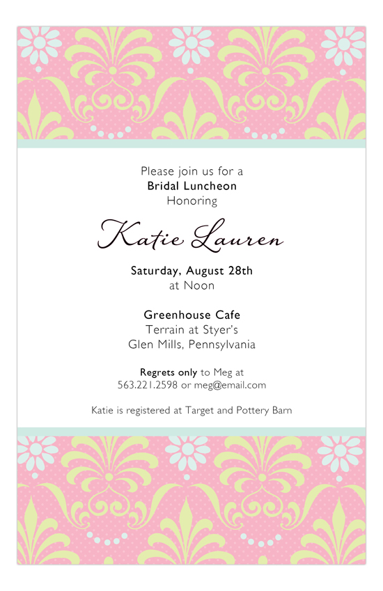 Pearl Damask Invitation