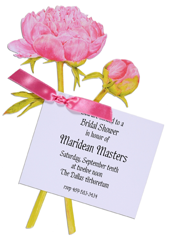 Pink Peony Bridal Shower Invites