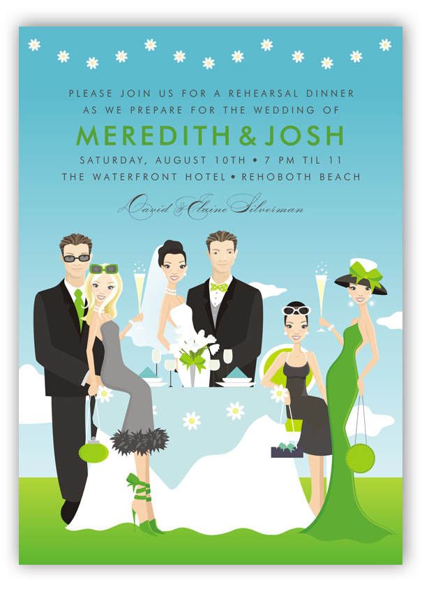 Perfect Day Wedding Party Invitation Polka Dot Design