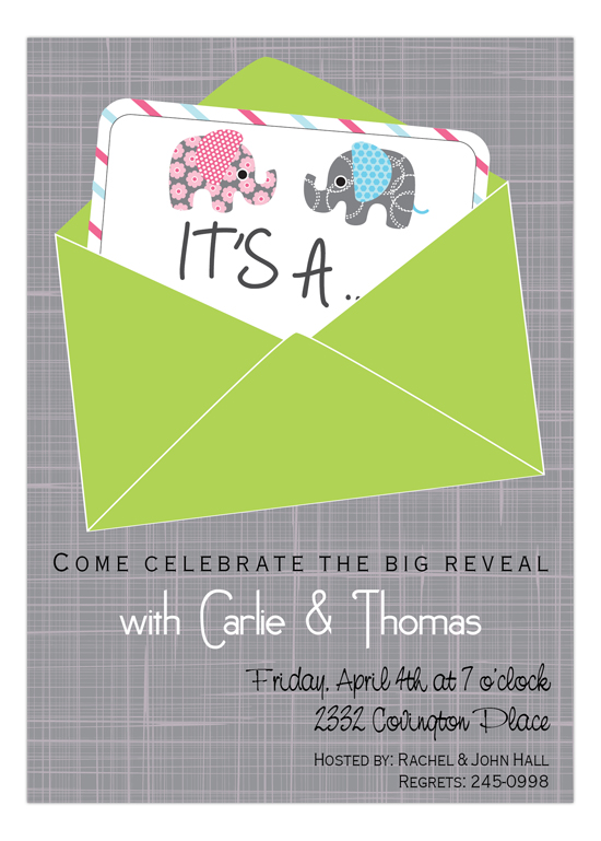 And the Baby is Baby Shower Invitation
