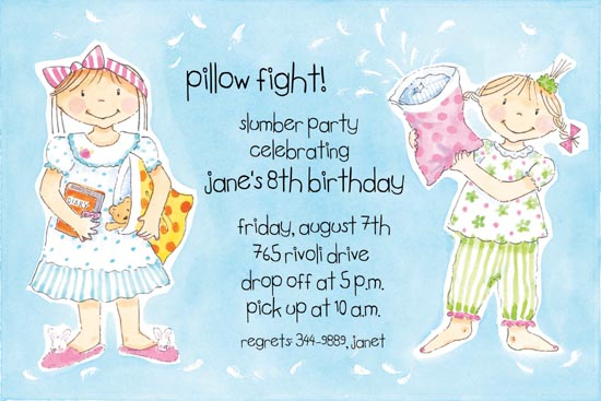 Pillow Fights Invitation