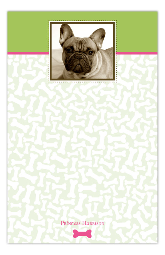 Pink Bones About It Photo Notepad