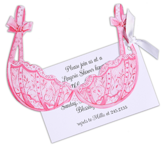 Pink Bra Invitation