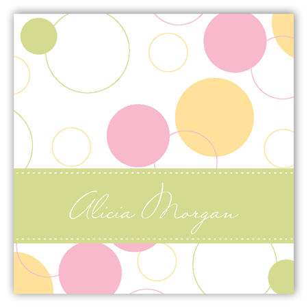 Pink Bubble Dots Square Sticker