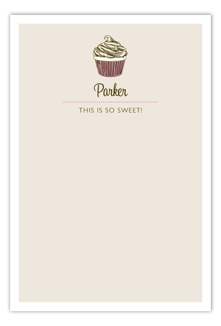 Pink Buckle Up Buttercup Flat Note Card