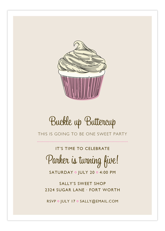 Pink Buckle Up Buttercup Invitation