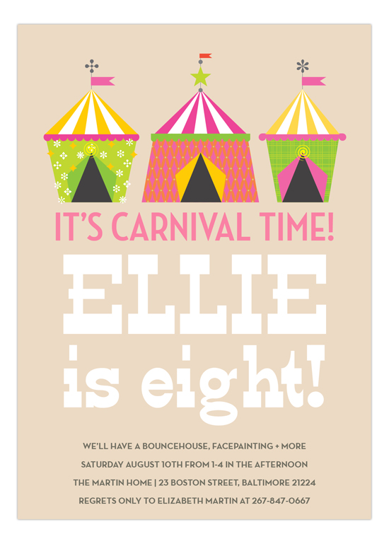 Big Top Pink Carnival Circus Party