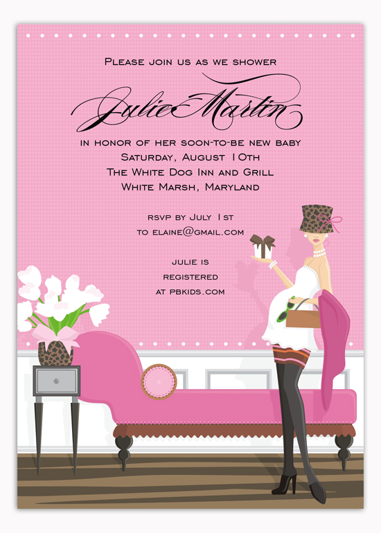 Pink Chic Shower Mama Invitation