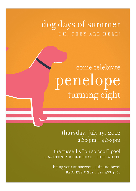 Pink Dog Days Invitation