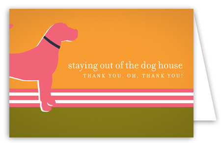 Pink Dog Days Note Card
