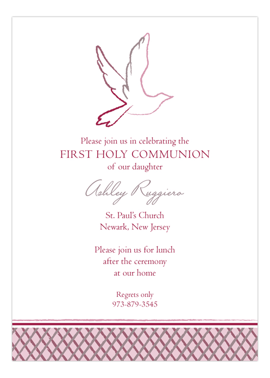 Pink Dove Invitation