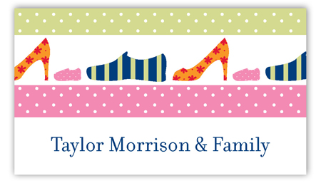 Pink Family Shoes Calling Card