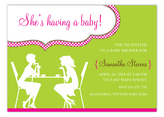 Pink Girl Chat Invitation