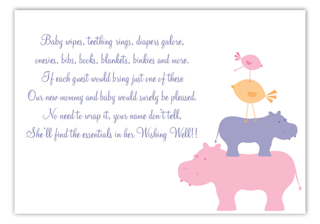 Pink Hippos Enclosure Card