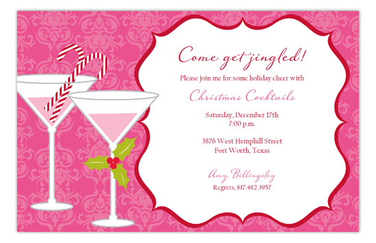 Pink Holiday Spirits Invitation