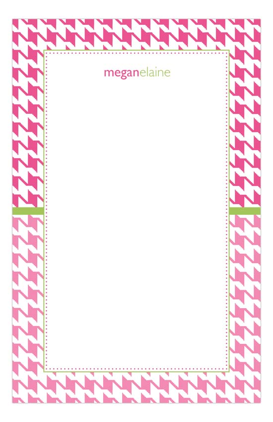 Pink Houndstooth Notepad