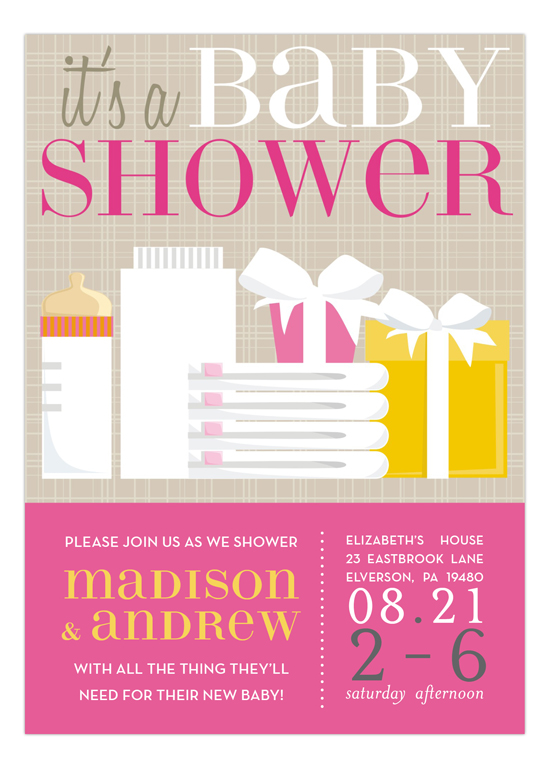 Pink its a trendy baby shower invitations polka dot design pink its a trendy baby shower invitations filmwisefo