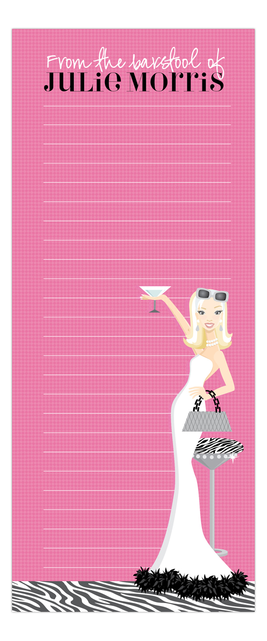 Pink Martini Fab Blonde Skinny Notepad