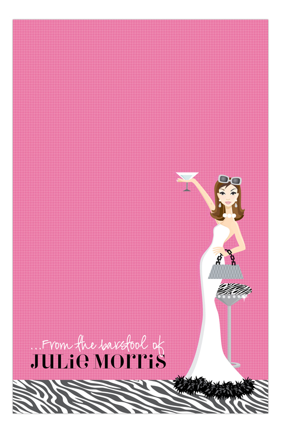 Pink Martini Fab Brunette Notepad