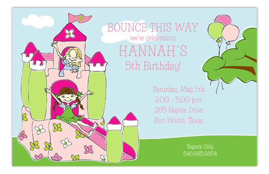 Pink Palace Pals Invitation