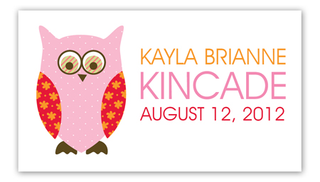 Pink Pattern Owls Calling Card