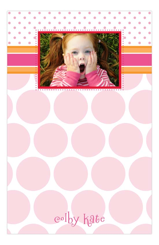 Pink Patterns Photo Notepad